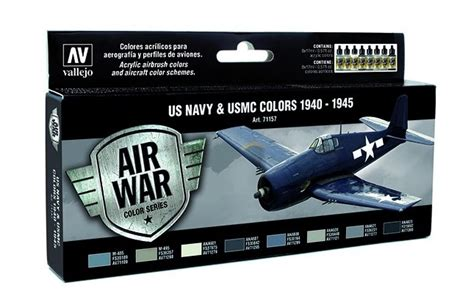 Vallejo 71054 Grey Blue Model Kit Paint u s navy aircraft airbrush colors set of 8 paints vallejo