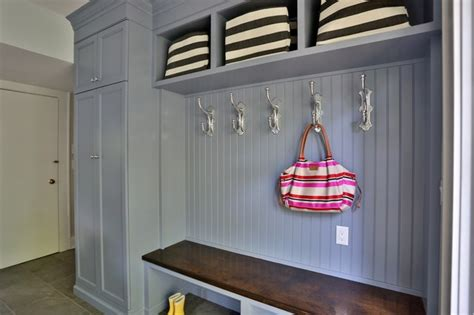 built in bench seating painted custom built in with bench seat transitional entry new york by joseph