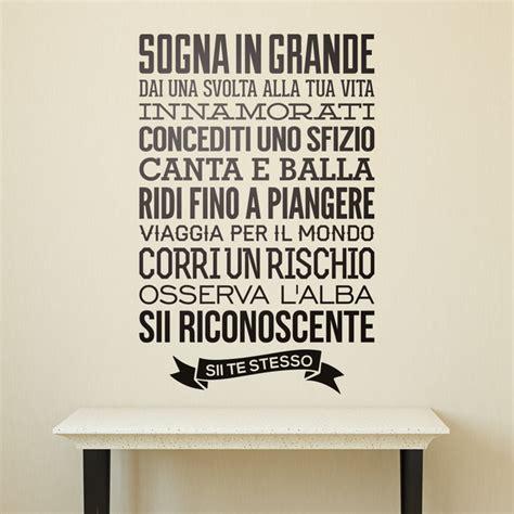 Sticker Auf Italienisch by Wandtattoo Spr 252 Che Auf Italienisch Webwandtattoo