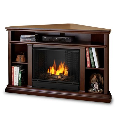 Corner Gas Fireplace Tv Stand by 50 75 Quot Churchhill Espresso Entertainment Center Corner Gel