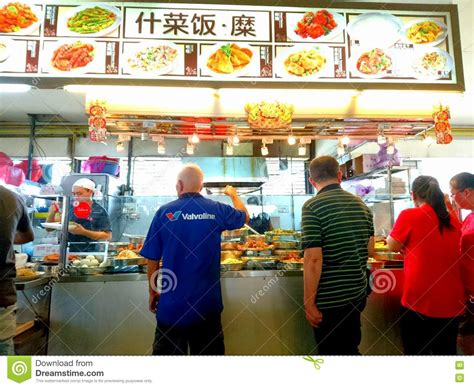 Time To Actually Buy Groceries by Singapore Locals Buying Cook Food Editorial Stock Photo