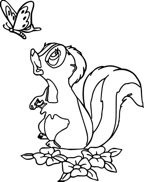 coloring book page of a skunk skunk coloring page 19055 bambi flower skunk coloring