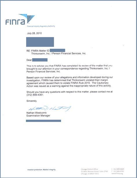 finra ok s broker fraud thinkorswim and td ameritrade