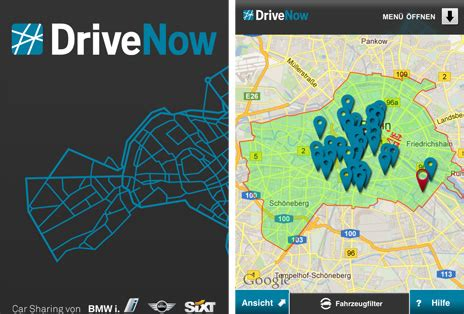 drive now berlin carsharing mit dem iphone drive now in berlin ein