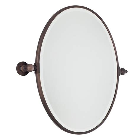 oval tilting bathroom mirror oval tilt bathroom mirror available in 2 colors chrome