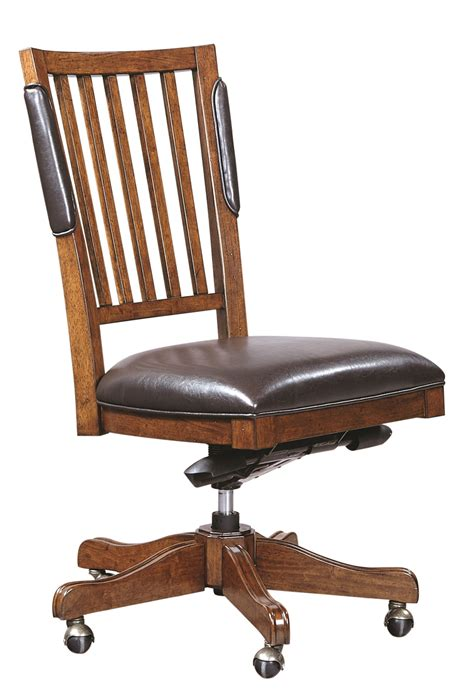 aspenhome hawthorne executive office chair in brown cherry