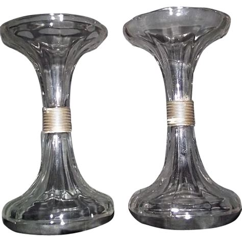 17078 Set Bottom original quot sets of glass stands quot to support glass shelves
