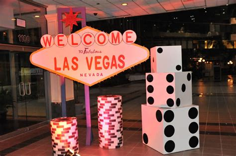 Las Vegas Decorations by Casino Event Florida