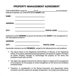 Property Manager Contract Sle by Property Management Agreement 8 Free Documents In Pdf