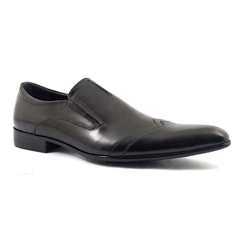 shop mens black slip on formal shoes gucinari