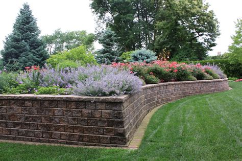 landscape beds raised bed traditional landscape grand rapids by