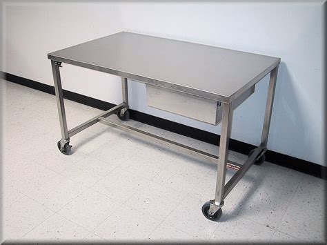 stainless steel table with casters rdm stainless steel table model a109p ss