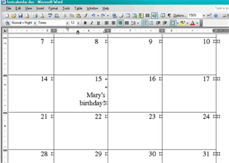 make calendar in word create a calendar in word