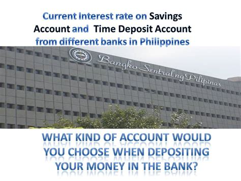 highest interest rate savings banks with highest interest rate for time deposit and savings accounts in philippines