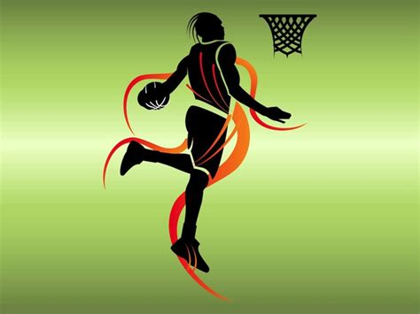 poster basketball player silhouette vector free download