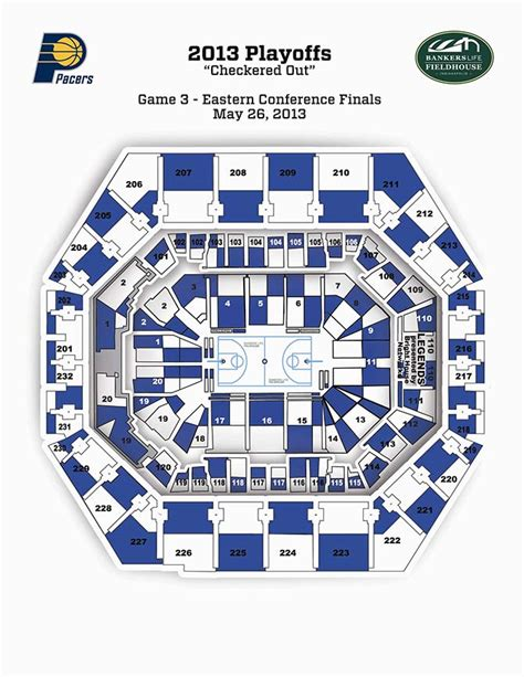 bankers fieldhouse seating chart with rows eastern conference seating map the official site of the