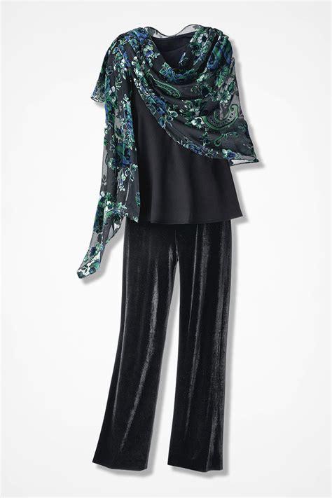 Pasmina Velvet Vip 2 sheer drama velvet shawl coldwater creek