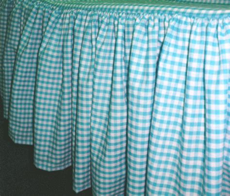turquoise bed skirt queen turquoise and white gingham check bedskirt dustruffle