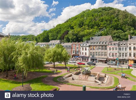 liege to spa town centre with park spa province of liege wallonia