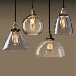 Clear Glass Pendant Lights New Vintage Clear Glass Pendant Light Copper Hanging Ls E27 110 220v Light Bulbs For Home
