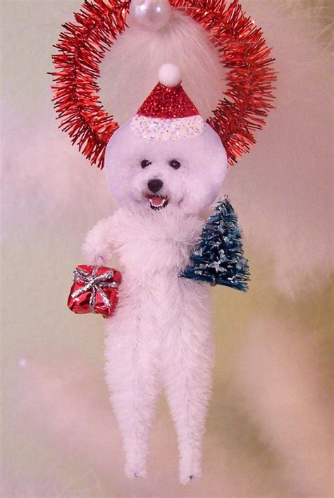 bichon frise christmas ornament really pinterest