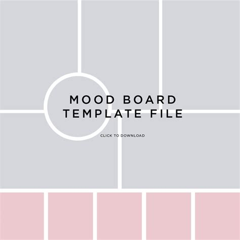 photo board template mood board template file by fancygirl design studio mind