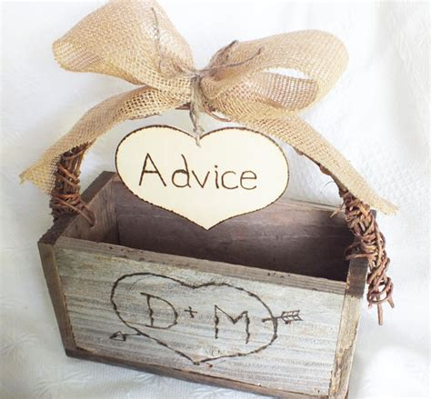 Wedding Advice Box by Items Similar To Wedding Advice For The And Groom