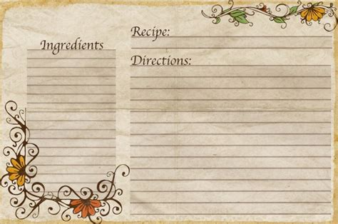 vintage recipe card psd template aletheia free recipe cards made by yours truly