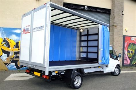 vans with curtains maun motors self drive curtain side van hire 3 5t rental