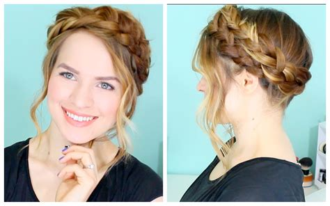 full crown hairstyles how to easy crown braid youtube
