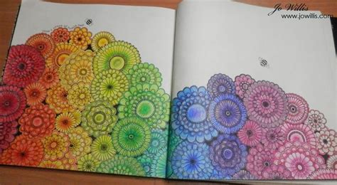 secret garden coloring book hobby lobby here i go again finished floral rainbow colouring