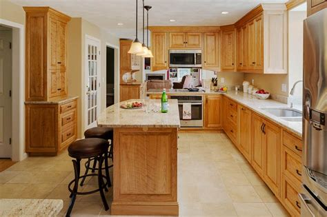 red birch kitchen cabinets groton red birch kitchen platt builders