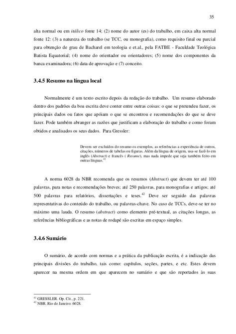 Abnt Tcc Como Requisito Parcial Para Obtenção Do Grau Mba by Normas Abnt 2015