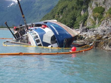 salmon fishing boat accident coast guard state of alaska monitors defueling of fishing