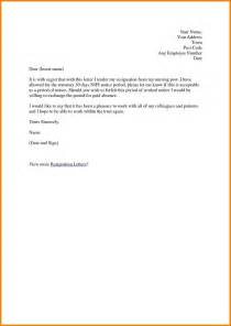 Sle Letters Of Resignation For Nurses by 9 Nurses Resignation Letter Sles Meal Plan Spreadsheet