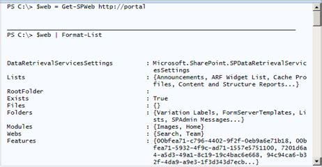 powershell format list csv viewing sharepoint properties as lists tables and csv in
