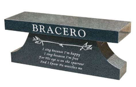 Memorial Benches For Graves Cremation Bench Headstone Tombstone Grave Marker