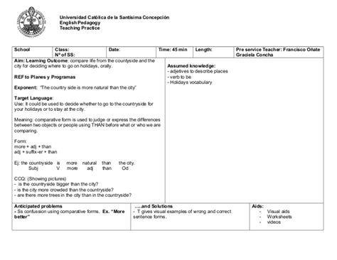 council lesson plan template council lesson plan template ppp lesson