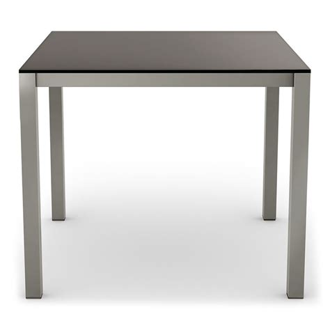 Dining Tables Black Glass Carbon Modern Black Glass Dining Table By Amisco Eurway