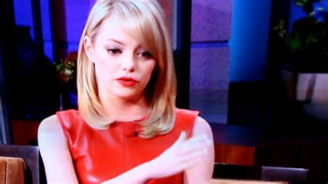 emma stone youtube emma stone in red leather dress youtube