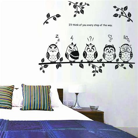 owl bedroom decor owl birds removable decal mural nursery bedroom decor