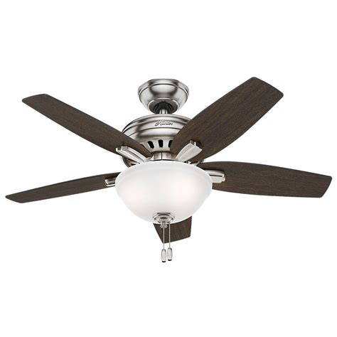 brushed nickel ceiling fan with light newsome 42 in indoor brushed nickel ceiling fan