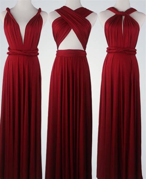 infinity bridesmaids dresses wine bridesmaid dress infinity dress convertible dress