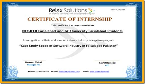 28 internship certificate template internship how