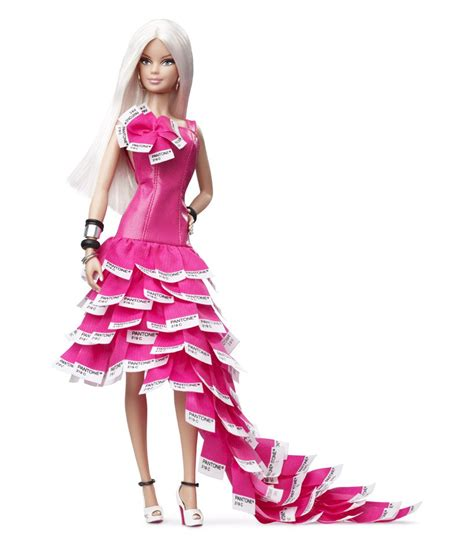 design barbie doll pink in pantone barbie doll