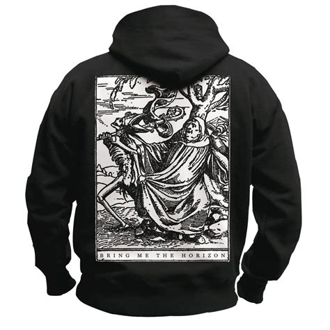 Hoodie Bring Me The Horizon Hitamrockzillastore bring me the horizon zip hoodie the abbot 49 90