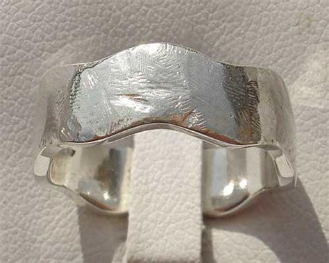 mens designer silver wedding ring love2have in the uk