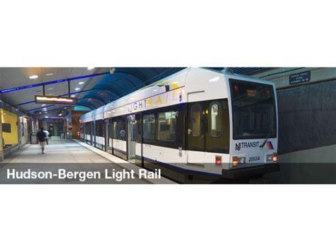 hudson light rail schedule hudson bergen light rail service restored after storm