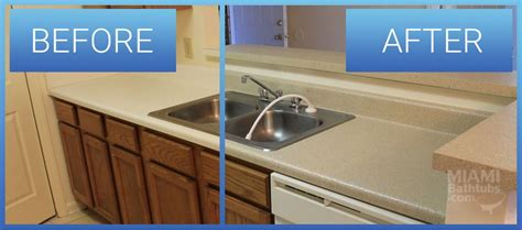 How To Refinish Kitchen Countertops Yourself by Countertop Refinishing Resurfacing Miami Bathtubs