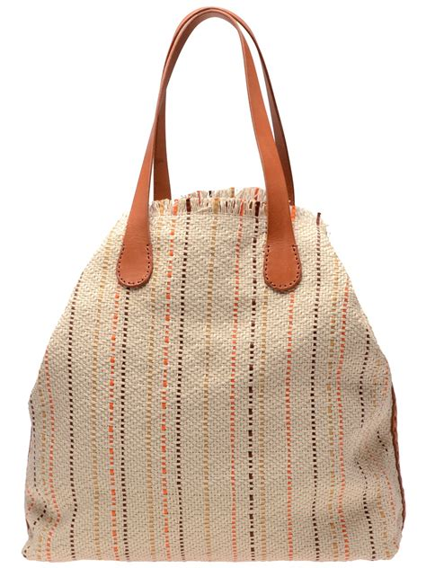 Henry Cuir Chateau Bag by Lyst Henry Cuir Handwoven Canvas And Leather Shopper Bag